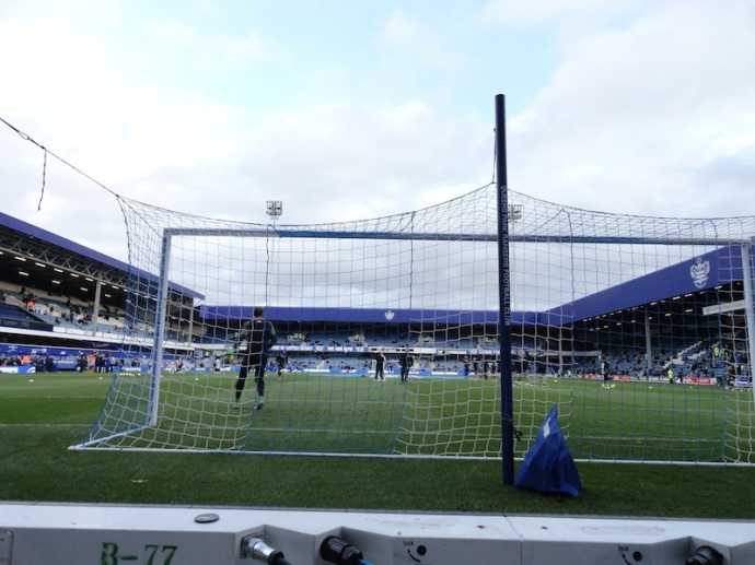 Right behind the goal in the front row at Loftus Road.